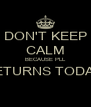 DON'T KEEP CALM BECAUSE PLL RETURNS TODAY!  - Personalised Poster A4 size