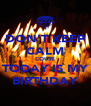 DON'T KEEP CALM COUSE TODAY IS MY BIRTHDAY - Personalised Poster A4 size