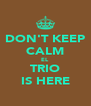 DON'T KEEP CALM EL TRIO IS HERE - Personalised Poster A4 size