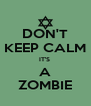 DON'T KEEP CALM IT'S  A ZOMBIE - Personalised Poster A4 size