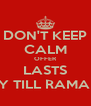 DON'T KEEP CALM OFFER LASTS ONLY TILL RAMADAN - Personalised Poster A4 size