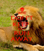DON'T KEEP  CALM RUN AWAY - Personalised Poster A4 size