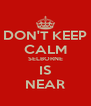 DON'T KEEP CALM SELBORNE IS NEAR - Personalised Poster A4 size