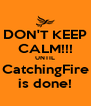 DON'T KEEP CALM!!! UNTIL CatchingFire is done! - Personalised Poster A4 size