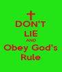 DON'T LIE AND Obey God's Rule - Personalised Poster A4 size