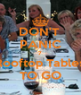 DON'T  PANIC 7 Rooftop Tables TO GO - Personalised Poster A4 size