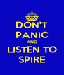 DON'T PANIC AND LISTEN TO SPIRE - Personalised Poster A4 size
