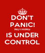 DON'T PANIC! NOTHING IS UNDER CONTROL - Personalised Poster A4 size