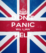 DON'T PANIC WE CAN HELP  - Personalised Poster A4 size