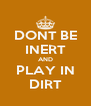 DONT BE INERT AND PLAY IN DIRT - Personalised Poster A4 size
