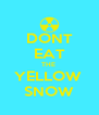 DONT EAT THE  YELLOW  SNOW - Personalised Poster A4 size