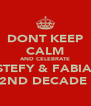 DONT KEEP CALM AND CELEBRATE ESTEFY & FABIAN 2ND DECADE  - Personalised Poster A4 size