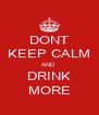 DONT KEEP CALM AND  DRINK MORE - Personalised Poster A4 size