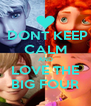DONT KEEP CALM AND LOVE THE BIG FOUR - Personalised Poster A4 size