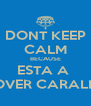 DONT KEEP CALM BECAUSE ESTA A  CHOVER CARALHO ! - Personalised Poster A4 size