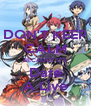 DON'T KEEP CALM BECAUSE IT'S Date A Live - Personalised Poster A4 size