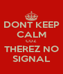 DONT KEEP CALM COZ THEREZ NO SIGNAL - Personalised Poster A4 size