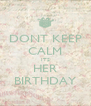 DONT KEEP CALM ITS HER BIRTHDAY - Personalised Poster A4 size