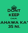 DONT KEEP CALM, PAHAWA KAY 3S NI. - Personalised Poster A4 size
