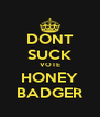 DONT SUCK VOTE HONEY BADGER - Personalised Poster A4 size