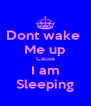 Dont wake  Me up Cause I am Sleeping - Personalised Poster A4 size