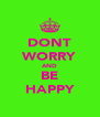 DONT WORRY AND BE HAPPY - Personalised Poster A4 size