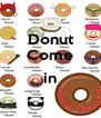 Donut Come  in  - Personalised Poster A4 size