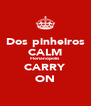 Dos pinheiros CALM Florianópolis CARRY ON - Personalised Poster A4 size