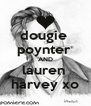 dougie  poynter  AND lauren  harvey xo - Personalised Poster A4 size