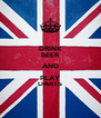 DRINK BEER AND PLAY DARTS - Personalised Poster A4 size