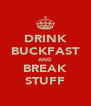 DRINK BUCKFAST AND BREAK STUFF - Personalised Poster A4 size