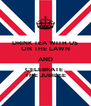 DRINK TEA WITH US ON THE LAWN AND CELEBRATE  THE JUBILEE - Personalised Poster A4 size