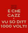 E CHE CAZZ E VU SO DITT 1000 VOLT!! - Personalised Poster A4 size
