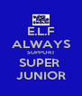 E.L.F ALWAYS SUPPORT SUPER  JUNIOR - Personalised Poster A4 size