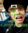 eat  chicken  AND shit  ON JUSTIN BIBER - Personalised Poster A4 size