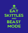 EAT SKITTLES AND BEAST MODE - Personalised Poster A4 size