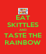 EAT SKITTLES AND TASTE THE RAINBOW - Personalised Poster A4 size