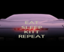 EAT SLEEP  KITT REPEAT - Personalised Poster A4 size