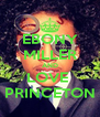 EBONY MILLER AND LOVE  PRINCETON - Personalised Poster A4 size