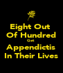 Eight Out  Of Hundred Get  Appendictis In Their Lives - Personalised Poster A4 size
