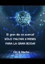El gran día se acerca!!  SÓLO FALTAN 4 MESES  PARA LA GRAN BODA!!           Cin & Nacho - Personalised Poster A4 size
