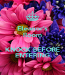 Eleanor's Room  KNOCK BEFORE ENTERING - Personalised Poster A4 size