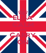 ELISA CALM AND CARRY ON - Personalised Poster A4 size
