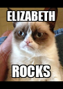 ELIZABETH ROCKS - Personalised Poster A4 size