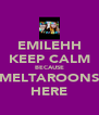 EMILEHH KEEP CALM BECAUSE MELTAROONS HERE - Personalised Poster A4 size