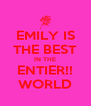 EMILY IS THE BEST IN THE ENTIER!! WORLD - Personalised Poster A4 size