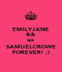 EMILYJANE && MR SAMUELCROWE FOREVER! ;) - Personalised Poster A4 size