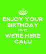 ENJOY YOUR BIRTHDAY NOW WE'RE HERE CALU - Personalised Poster A4 size