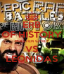 ERB OF HISTORY MASTER CHIEF VS LEONIDAS - Personalised Poster A4 size
