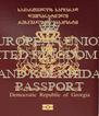 EUROPEAN UNION  UNITED KINGDOM OF  GEORGIAN IBERIA AND KOLKHIDA PASSPORT - Personalised Poster A4 size
